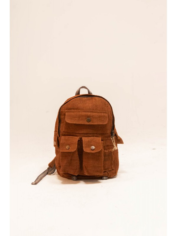 Organic Hemp Multi-pocket Backpack