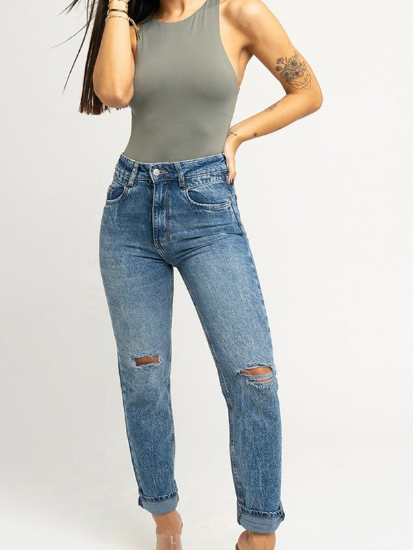Sustainable and recycled cotton jeans