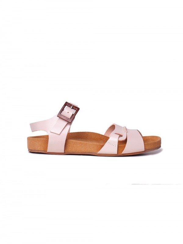 Chrome-free leather sandal locally produced