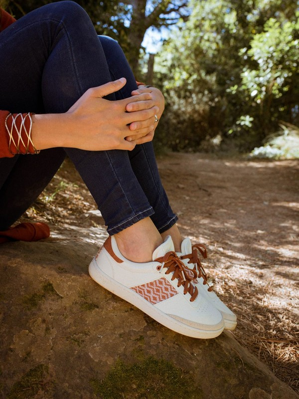 Handwoven Chrome-Free Leather Sneaker