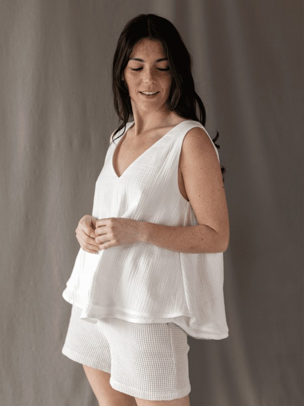 Organic cotton blouse made in Barcelona-Dopic