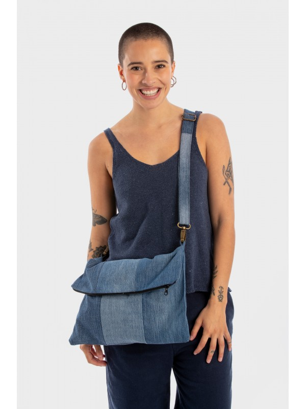 Bolso Denim Reciclado-Flap Bag