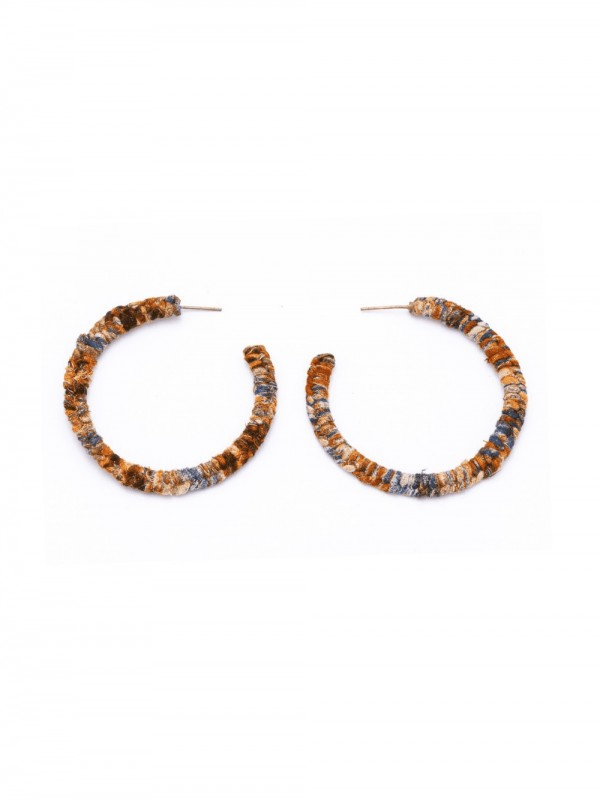 Fine handmade earrings from recycled fabric