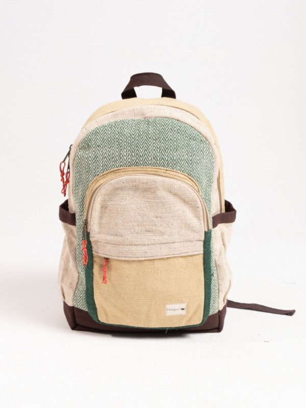 Sustainable hemp backpack natural dyes-Annapurna